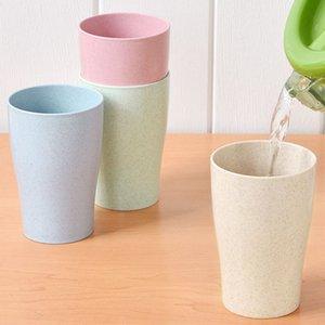 Экологию Healthy соломы пшеницы биоразлагаемые Кружка, чашка для воды, кофе, молоко, сок, чай (4 шт)