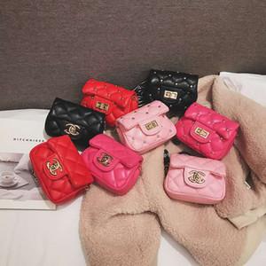bambini PU borse lettera ragazze sacchetto del bambino di modo moneta bambini catena di borsa Messenger bambini della principessa della borsa ragazze mini borse