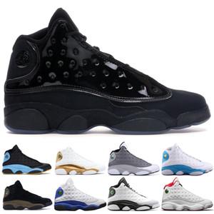 Nike air jordan retro El más nuevo 13 13s Gorra y bata Chris Paul Away Zapatillas de baloncesto de color verde oliva para hombres Grey Toe Bred Chicago Black Sport Trainer 7-13