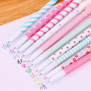 100 unids / 10 sets kawaii gel ink pen color set de dibujos animados animal flor serie 10 colores bolígrafos para niños lindo regalo estacionario lote