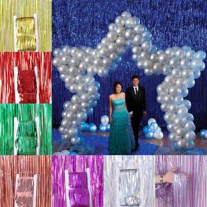 Laser Regen Party Hintergrund Geburtstag Hochzeit Hintergrund Wanddekoration Laser Regen Vorhang Festliche Weihnachtsdekoration