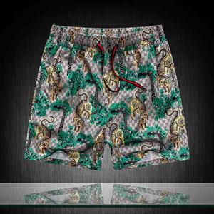 20SS новые роскошные ДИЗАЙНЕРЫ случайного мужских шорт змеи рисунок цветок вышивки мужских плавательных шорты высоких уличная мода Medusa пляж брюки