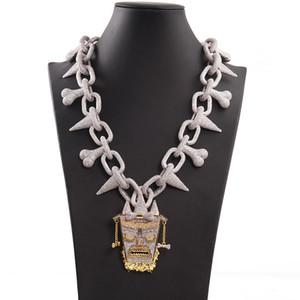 Mens para fora congelado Designer Hip Hop Cadeia Pingentes de luxo homens jóias de diamante grande colar de pingente Bling Rei Encantos Rapper cubano Fazer a ligação Hiphop Nova