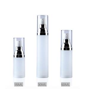 15 ml, 30 ml, 50 ml botellas vacías botellas de suero de la bomba de vacío Loción Sub-Embotellado Con Crema PP frasco dosificador SN1665