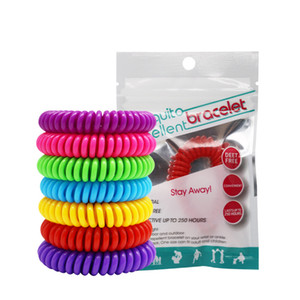 Yeni Sivrisinek Kovucu Bileklik Gerdirilebilir Elastik Bobin Spiral El Bilek Bandı telefon Yüzük Zincir Anti-sivrisinek Bilezik