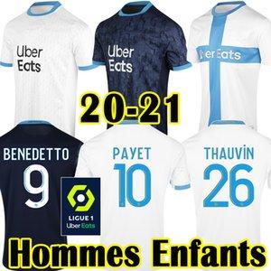 20 21 Benedetto Olympique de Marseille Fußballjersey-Kinder-Uniform PAYET OM Erwachsene Blau Dritte Marseille 120th L GUSTAVO THAUVIN Shirts weg