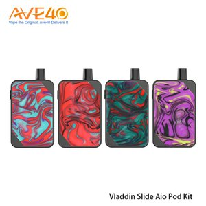 Original Vladdin Slide Aio 1000mAh Pod System Kit Vape 2ml Capacity with replaceable Mesh Coil v Vapefly Jester