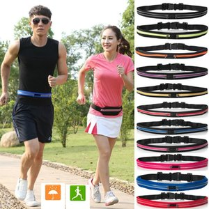 Waist Pack Unisex Outdoor Stretch Men Women Stretch Sports Belt Pockets Mobile Phone Bag Cycling Running Walking Fitness