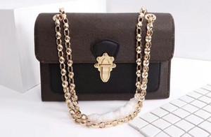 Realfine888 3A M41730 27 centimetri Catena Victoire Momogran Canvas Shoulder Bag borse, con la borsa di polvere + di sicurezza, trasporto libero del DHL