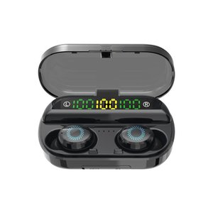 8D беспроводные наушники Bluetooth V5. 0 спортивные беспроводные наушники 3 LED дисплей сенсорное управление стерео наушники с микрофоном гарнитура