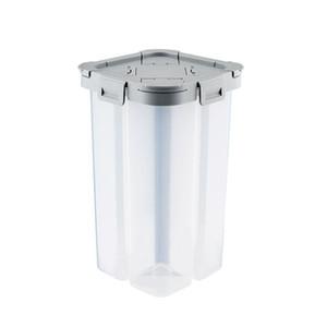 Crearive Quatro Compartimentos Cereal armazenamento recipiente selado seco comida de plástico Caixa de armazenamento para Snack Nut Noodle 2300ml Cinzento Branco