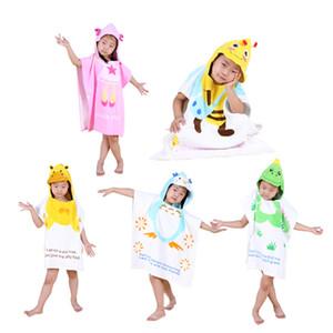Novo estilo de Banho de Toalha de Banho Dos Desenhos Animados Animal Bebê Congelado Com Capuz Roupão De Banho Infantil Robe Para Crianças Crianças Pijama Roupão de banho