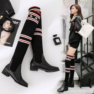 New Fashion Women Elastic Força Meias Botas Sexy Ladies Magro Leg Over-the-knee Botas Meninas neve Botas Designer Marca Casual Shoes34fd #