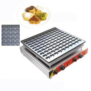 Neue 100 löcher herzförmige mini waffeleisen kommerziellen elektrische poffertjes pan min kuchenmaschine maschine beliebte snack maker 110 v 220 v