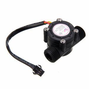 1/2 '' Sensor De Fluxo De Água 1-30L / min Hall Sensor de Temperatura do Fluxômetro para Arduino Medidor de Fluxo Da Turbina Medidor de Temperatura