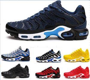 TN plus 2019 New Designer chaussures pour hommes KPU chaussures Mesh respirant Chaussures Homme Tn sport 8909-GP Noir REQUIN Chaussures de course nous Taille 7-13