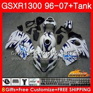 Karosserie für SUZUKI Hayabusa GSXR 1300 GSXR1300 96 02 03 04 05 blaue Flammen 06 07 24HC.122 GSX R1300 1996 2002 2003 2004 2005 2006 2007 Verkleidung