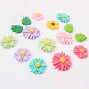 Pequeno Margarida Geladeira Adesivo Colorido Girassol Resina Pintada Magnética Geladeira Decorativa Flor Home Decor Cor Aleatória