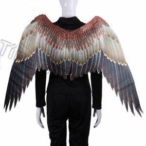 novos do carnaval águia grande Asas Trajes Non Woven Tecidos asas escuras Adulto Halloween Carnival Fantasia partido da bola vestido SuppliesT2I5329