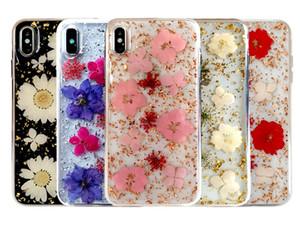 Para el iphone 11promax Hyun flor epoxi cáscara del teléfono seca flores flor de verdad teléfono móvil concha protectora del teléfono celular de epoxi