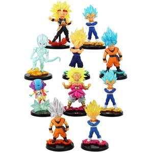 5pcs lot Dragon Ball Figures Son Goku Vegeta Vegetto Frieza Bardock Broli Broly Zen-Oh Super Saiyan Ultra Instinct Model Toys Y200703