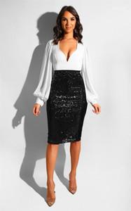 Art und Weise reizvolle kurze Röcke Pailletten Lower Body Hip Kleidung Sequin Slim Fit Bekleidung Frauen Sommerkleider