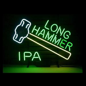 """Martelo longo Sinal de Néon Personalizado Artesanal de Vidro Real Bar Beer Bar Pub Loja Clube de Exibição de Néon Sinais de Decoração Para Casa 19 """"X15"""""""