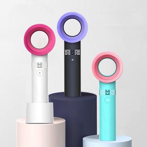 Mini portable Bladeless ventilateur portable refroidisseur d'air No Leaf Handy Eventails USB rechargeable en plein air portables FFA4168 300pcs