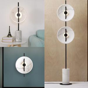 Post-moderna lámpara de suelo de mármol resina verticales creativa salón lujo luz lámpara lámparas verticales simples nórdicos - L129
