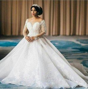 Hot sell 2020 Sexy Off Shoulder Lace Wedding Dresses Applique Tiered Tulle Garden Elegant Cheap Wedding Dress Bridal Gowns Vestidos De Novia
