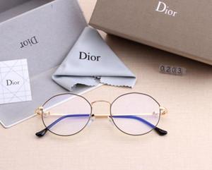 2019 nuevos lentes anti-azul para hombres y mujeres miran TV en línea y van de compras a comprar gafas decorativas