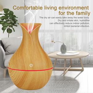 Air humidifier usb aroma diffuser mini wood grain ultrasonic atomizer diffuser for home office