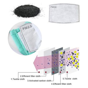 2 10 pcs 5 Layers PM2.5 Activated Carbon Filters Dustproof Anti-fog Bacteria Mouth Masks Face Care Filter