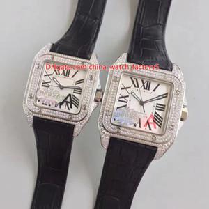 Mejor calidad HBBV6 Maker Lover 38mm 33mm SAN100 Full Diamond Bezel Asia Come 2824 Movimiento Automático Mira las mujeres Relojes para hombre de las mujeres