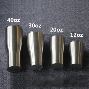 Curva tumbler curvatura tazza curvi vuoto isolato vino tazza chiavetta doppia parete in acciaio inox tazze di viaggio con coperchio