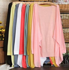 Yaz Hırka Kadın Ince Bluzlar Uzun Kollu Gömlek klima Örme Plaj Güneş Gömlek Güneş Kremi Hırka