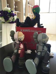 [TOP] Anime 28cm KAWS Companion orijinal sahte siyah, kırmızı ve gri medicom Aksiyon Figürleri model oyuncak toplama hediye bebek KAWS