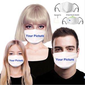 Personalizado máscara Diseñador adulto PM2.5 filtros de algodón a prueba de polvo 3D máscara impresa personalizada Niño envase individual Con Filtro