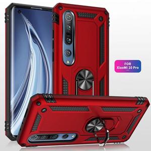 Téléphone antichocs Case Pour Xiaomi Mi 10 Pro Remarque 10Pro 9T Pro 9 9Lite A3 Porte-anneau magnétique Caver Pour redmi Note 9 9s 9Pro Max 8T 8 8Pro 8a