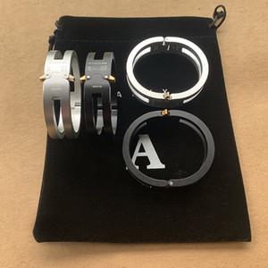 2020ss Top Version 1017 ALYX 9SM Achterbahn Spur Legierungs-Armband Männer Frauen Unisex Paare Armbänder Frauen Oval Buckle Armband