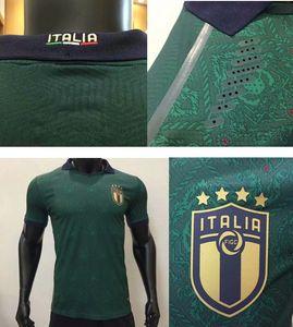 Player versione Italia 2020 di calcio pullover # 19 BONUCCI 19/20 Uomini verde bianco rinascimentale di calcio T-shirt della nazionale di calcio del 2020 divise