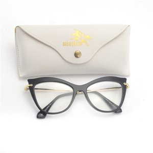 Wholesale- Cat Glasses Frames Brand Design Frame Women sexy Clear Black Leopard with box FML