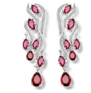 alta calidad más color dimaond crystal drops 925 silver lady 's earings 30.77vbcvlili