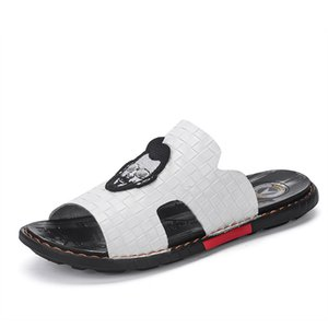 Single-strap Slipper Men Korean-style Fashion Outer Wear 2019 Summer New Style Trend Cool Anti-slip Genuine Leather Sandals Men'