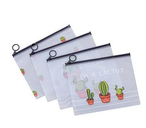 I Am A Catus Pencil Bag Pen Case,Student Stationery Pouch Zipper Closure, PVC Pencil Pouch for Pens Pencils