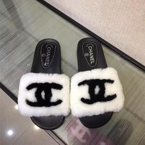 Nouveau Femmes Chaussons Mode Femmes Sandales Chaussures Casual Classique Femmes Slipper chiffon doux plat chaussons avec boîte originale Taille 35-42