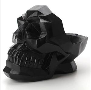 الراتنج الإبداعي تخزين رؤساء الجمجمة سطح المكتب مربع ريسي skulll المحمول ديكور المنزل حامل الهاتف لغرفة المعيشة