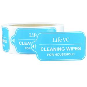 Etiqueta adhesiva adhesiva mate de alta calidad a medida de alta calidad paquete de impresión mate etiqueta adhesiva etiqueta de plástico de embalaje