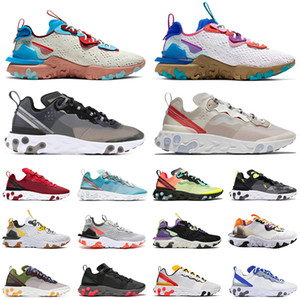 react Element 55 Volt Royal Tint Total Orange React Element 87 Running Shoes For Women men Dark Grey Blue Chill Trainer 87s Sail Sports Sneakers