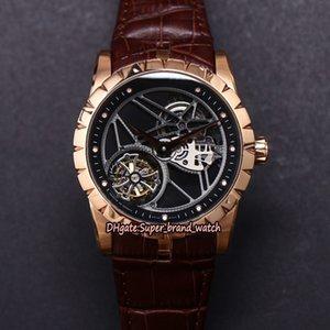 JB V2 Versão atualizada EXCALIBUR 42 RDDBEX0392 real Tourbillon Mens RD505SQ relógio automático Skeleton Dial Sapphire Designer relógios de luxo